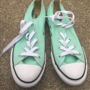 Youth Girls Mint Green Converse Fashion Sneakers 3